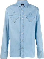 Mr And Mrs Italy Button Up Shirt Blue