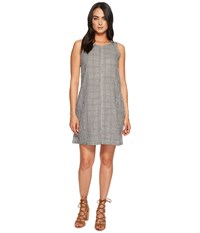 Dylan By True Grit Whitney Gingham Dress With Pockets White Black