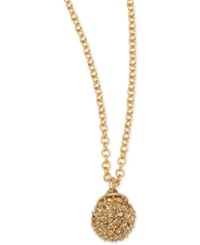 T Tahari Gold Tone Fireball Multi Crystal Drop Necklace