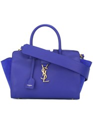 Saint Laurent Baby 'Monogram Cabas' Tote Blue