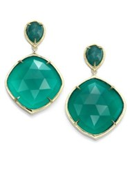 Ila Keely Green Onyx Emerald And 14K Yellow Gold Drop Earrings