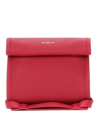 Balenciaga Tool Satchel Xs Leather Tote Red