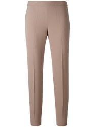 Alberto Biani Cropped Trousers Nude Neutrals
