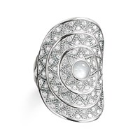 Thomas Sabo Zig Zag Milky Quartz Cocktail Ring White