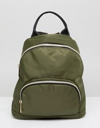 Qupid Backpack With Front Pocket Green