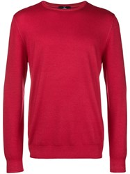 Fay Plain Knit Sweater Red