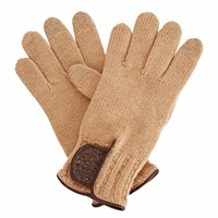 Gizelle Renee Theodore Brown Wool Gloves With Brown Speckle Wool