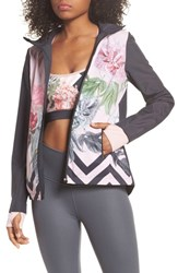 Ted Baker London Palace Gardens Print Hooded Jacket Grey