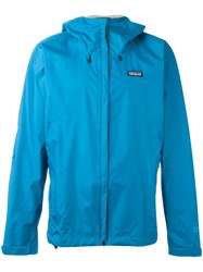 Patagonia Hooded Windbreaker Blue