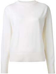 Le Ciel Bleu Round Neck Sweater White