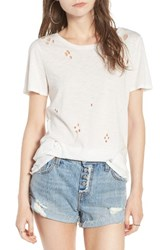 Socialite Women's Holey Tee White