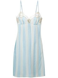 Rosamosario Lace Application Striped Camisole Blue