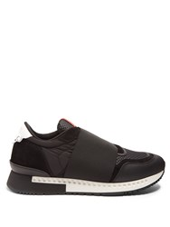 Givenchy Runner Low Top Leather Trainers Black Multi