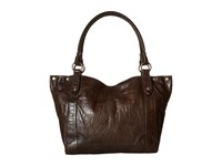 Frye Melissa Shoulder Slate Antique Pull Up Shoulder Handbags Black