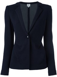 Armani Collezioni Single Button Blazer Blue