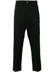 Junya Watanabe Comme Des Garcons Man Cropped Tapered Jeans Men Cotton Polyester S Black
