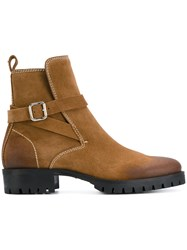 Dsquared2 Ankle Boots Men Cotton Suede Rubber 40.5 Brown