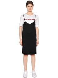 Love Moschino Layered Cotton Jersey Dress