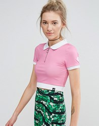 Illustrated People Polo T Shirt Pink