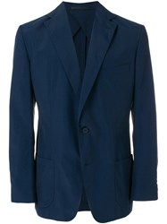 Orlebar Brown Single Breasted Blazer Blue