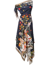 Monse Floral Print Handkerchief Dress Multicolour