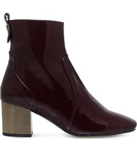 Carvela Strudel Patent Leather Ankle Boots Wine
