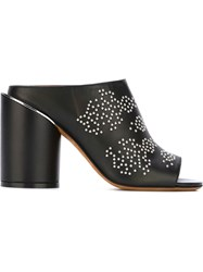 Givenchy Studded Open Toe Mules Black