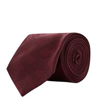 Burberry Shoes And Accessories Tonal Check Silk Tie Unisex Wine