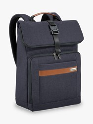Briggs And Riley Kinzie Street 2.0 Medium Foldover Backpack Navy
