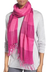 Eileen Fisher Women's Linen And Organic Cotton Check Scarf
