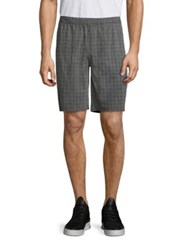 Mpg Pacific Checked Shorts Heather Grey