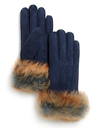 Ugg Shearling Sheepskin Gloves Indigo