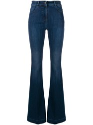 Pt05 High Rise Flared Jeans Blue