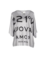 5Preview Topwear T Shirts Women Grey