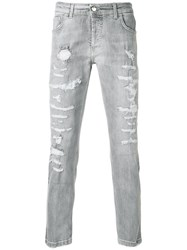 Entre Amis Distressed Style Jeans Grey