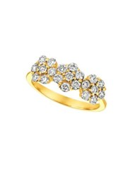 Morris And David Diamond 14K Yellow Gold Tri Floral Ring