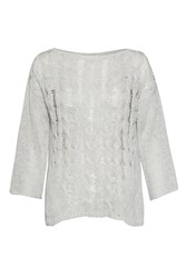 Great Plains Bryony Cable Knit Jumper Blue