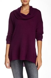 Susina Cowl Neck Cashmere Sweater Purple