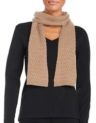 Lord And Taylor Cashmere Knit Scarf Mocha
