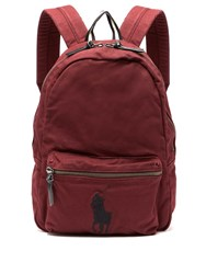 Polo Ralph Lauren Logo Embroidered Canvas Backpack