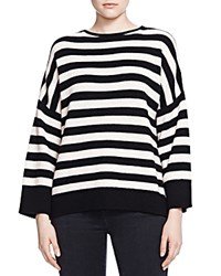 The Kooples Cashmere Striped Sweater Black