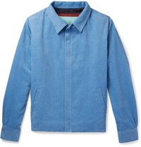 The Elder Statesman Cotton Corduroy Jacket Light Blue