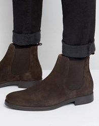Selected Homme Oliver Suede Chelsea Boots Black Brown