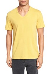 James Perse Short Sleeve V Neck Tee Yellow