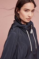 Anthropologie April Showers Raincoat Navy