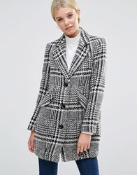 See U Soon Coat In Dogtooth Black
