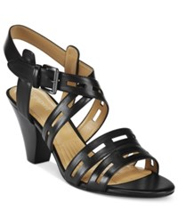 Easy Spirit Ranette Peep Toe Sandals Women's Shoes Black