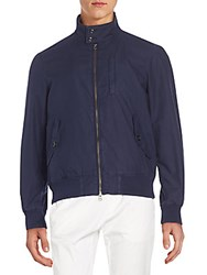 Gant Regular Fit Cotton Bomber Jacket Blue