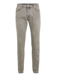 Topman Bleached Out Black Stretch Skinny Jeans