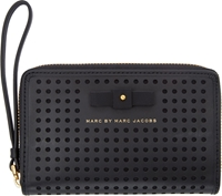 Marc By Marc Jacobs Black Perforated Sophistocato Wallet